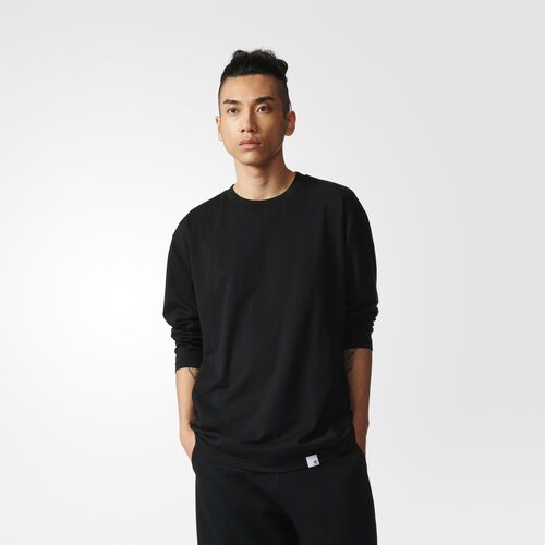 adidas - REMERA ORIGINALS MANGA LARGA X BY O  BLACK BQ3058