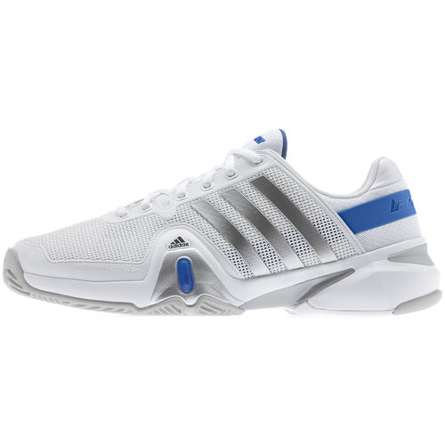 adidas - Hommes Adipower Barricade 8 Shoes Running White / Blue Beauty / Metallic Silver G95021