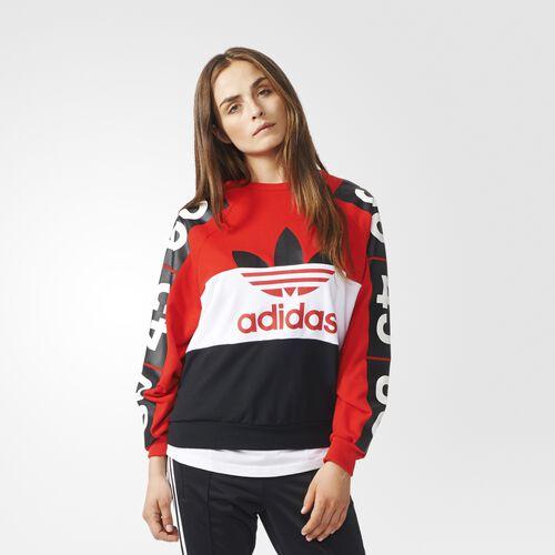 adidas - Femmes Topshop Superstar Sweatshirt Red/White/Black AB9738