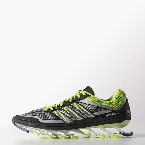 adidas - Men's Springblade Shoes Black / Metallic Silver / Solar Slime G98612