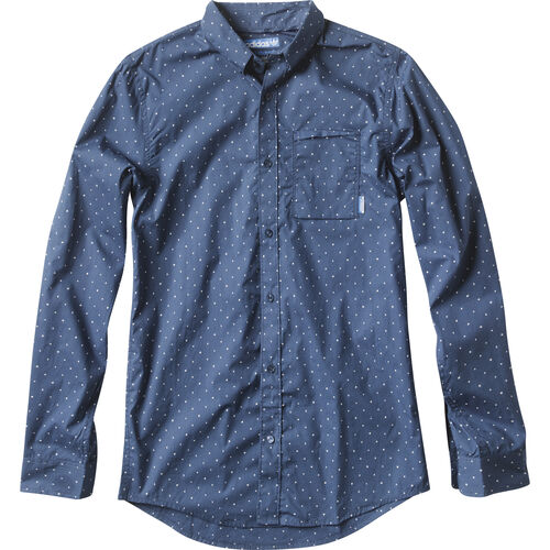 adidas - Hommes Silas Long Sleeve Shirt Uniform Blue D86469