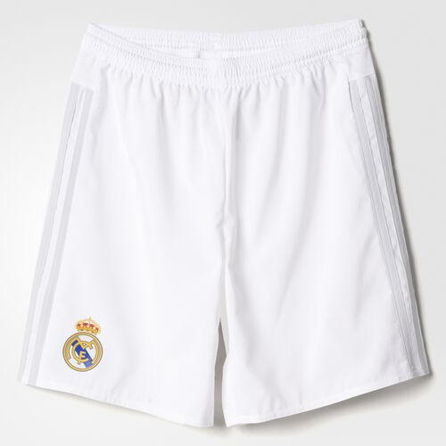 adidas - Enfants Real Madrid Home Replica Player Shorts White/Clear Grey S12616