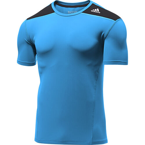 adidas - Men's Techfit Base Fitted Tee Solar Blue / Black D88642