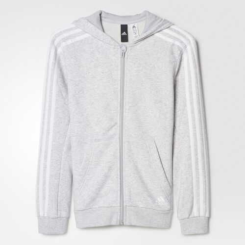 adidas - Sudadera Essentials 3-Stripes Light Grey Heather BQ2817