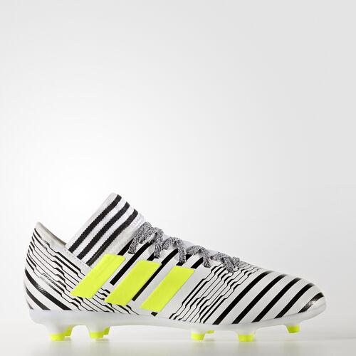 adidas - Calzado de Fútbol Nemeziz 17.3 Terreno Firme FTWR WHITE/SOLAR YELLOW/CORE BLACK S82426