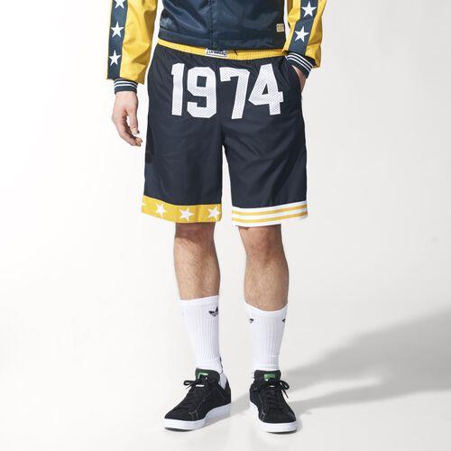 adidas - Men's 1974 Shorts Black/Tribe Yellow S14566
