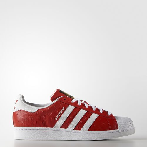 adidas - Hommes Superstar Animal Shoes Red/White/Gold Metallic S75158