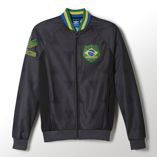 adidas - Men's Brazil Track Jacket Carbon / Fairway F77290