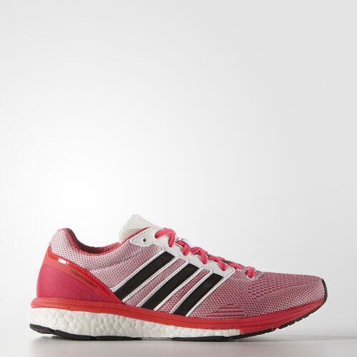 adidas - Women's adizero Boston Boost 5 Shoes White/Core Black/Shock Red S78215