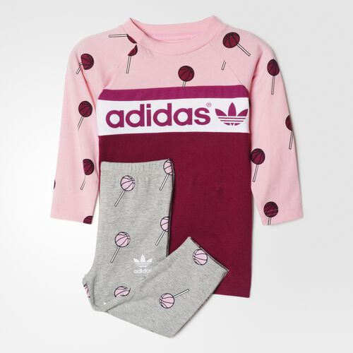 adidas - Bebes Basketball Dress Set Multicolor / Solid Magenta F11 AI9990