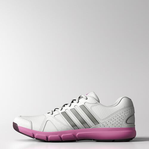 adidas - Women's Essential Star II Shoes White / Tech Grey Metallic / Solar Pink M18297