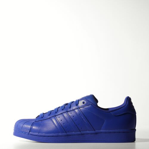 adidas - Men's Superstar Supercolor Shoes Bold Blue/Bold Blue/Bold Blue S41814