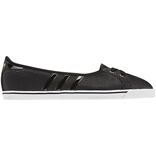 adidas - Women's Court Star Slim Ballerina Black / Metallic Gold / Black Q22960