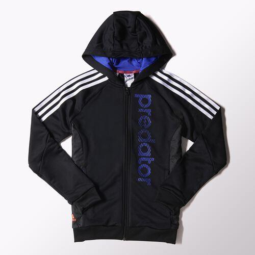adidas - Youth Predator Hoodie Black/White/Night Flash S22100
