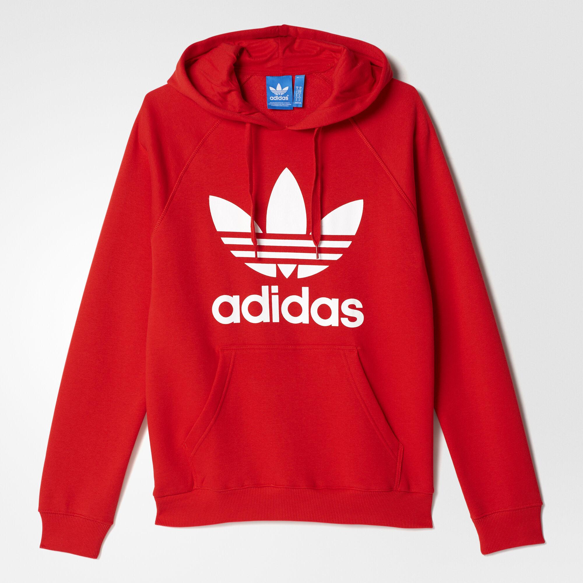 adidas hoodie red