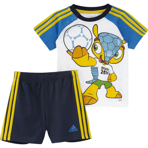 adidas - Bebes Mascot Set White / Bahia Blue / Bahia Orange F49647