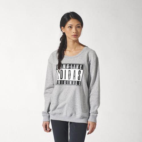 adidas - Femmes Graphic Sweater Medium Grey Heather S19538