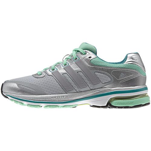 adidas - Women's Supernova Glide 5 Shoes Light Onix / Prism Mint / Tech Silver Metallic Q33797