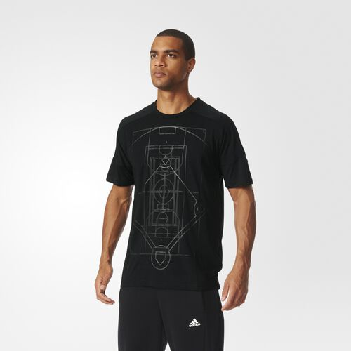 adidas - Hommes Sideline All-Over-Print Tee Black S93312