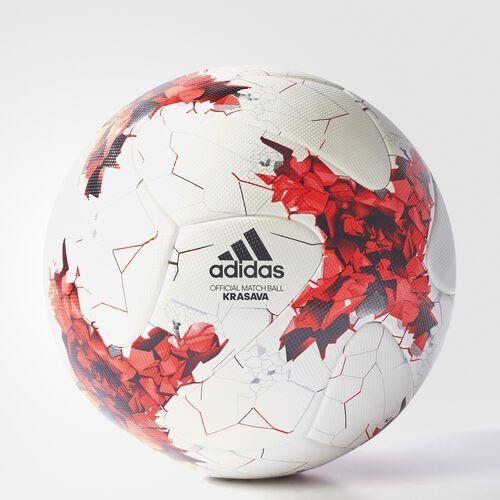 adidas - FIFA Confederations Cup Soccer Ball White  /  Poppy  /  University Red AZ3185