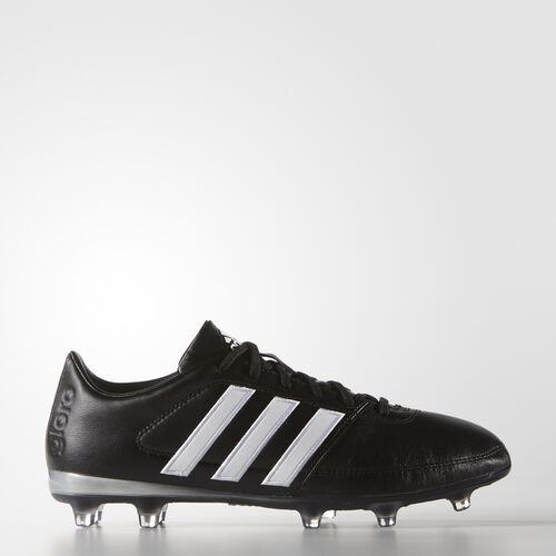 adidas - Gloro 16.1 Firm Ground Cleats Core Black  /  Running White  /  Matte Silver AF4856