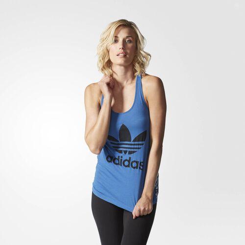 adidas - Women's Bermuda All-Over-Print Logo Tank Surf Blue S20038