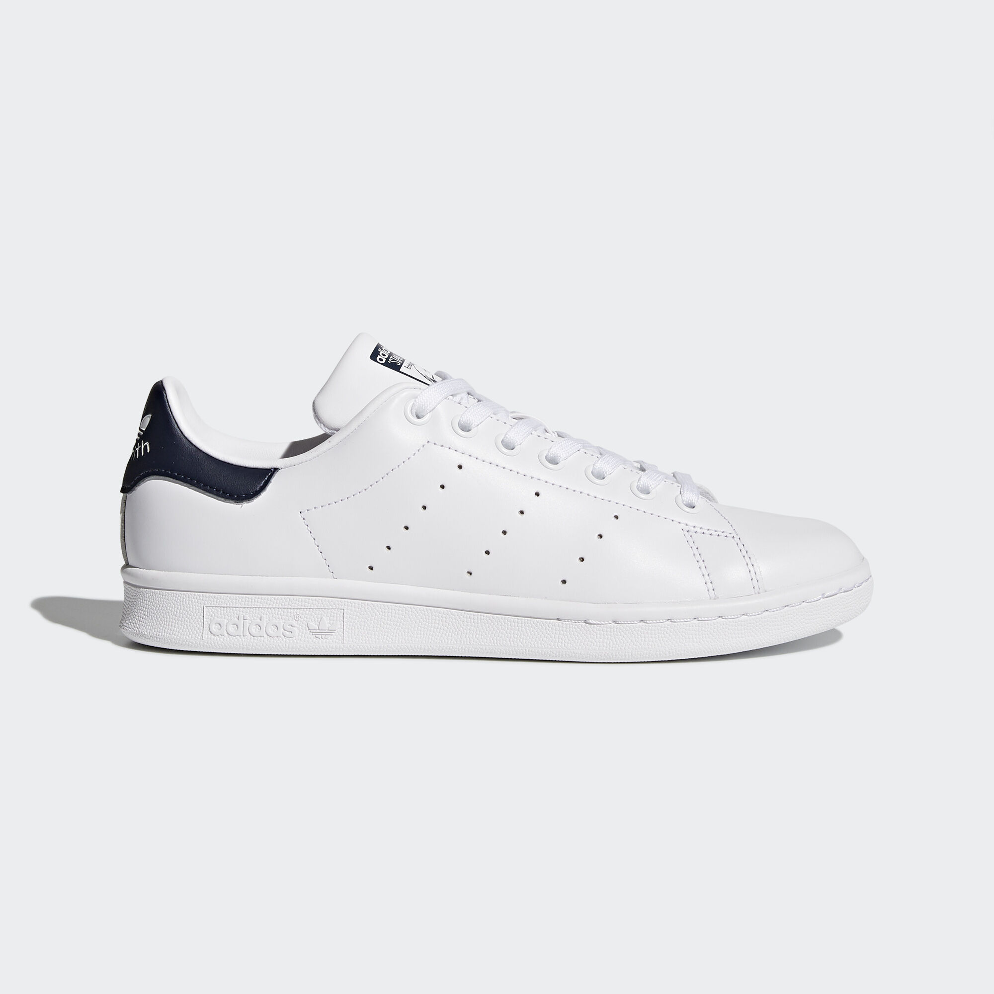 adidas - Men\u0026#39;s Stan Smith Shoes Core White/Dark Blue M20325