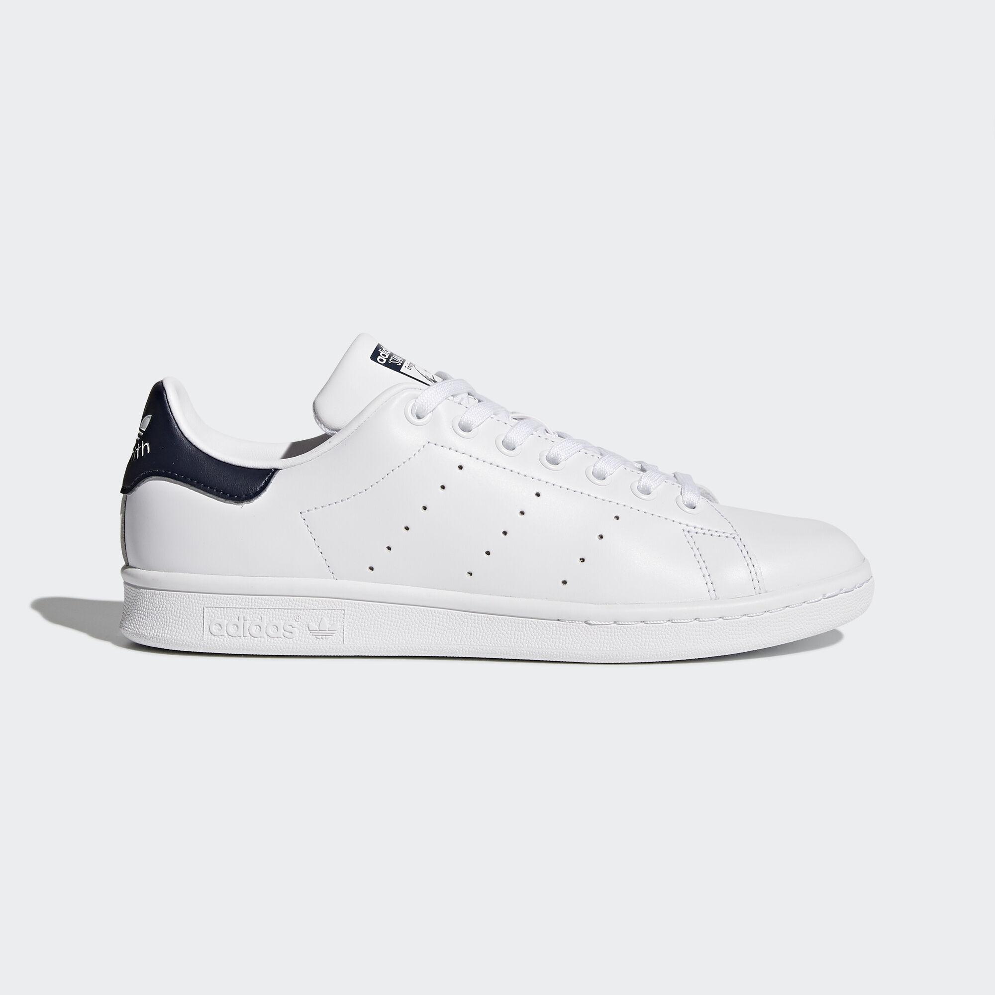 adidas - Men\u0026#39;s Stan Smith Shoes Core White/Dark Blue M20325