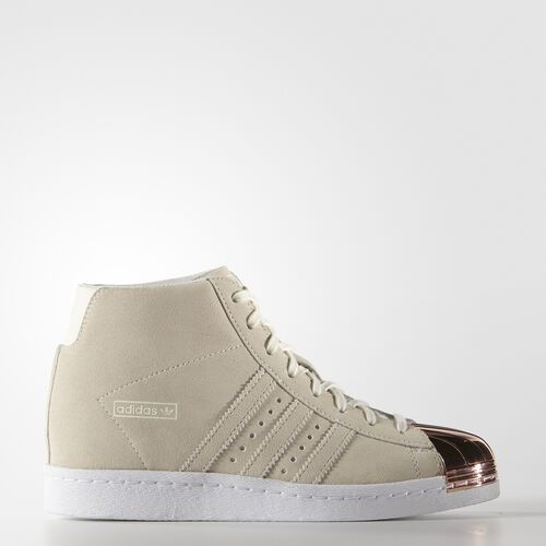adidas - Women's Superstar Up Metal-Toe Shoes Off White/Off White/Copper Metallic S79384