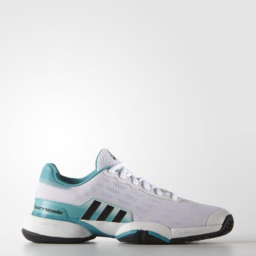adidas - Youth Barricade 2016 Shoes White/Core Black/Shock Green AF4623