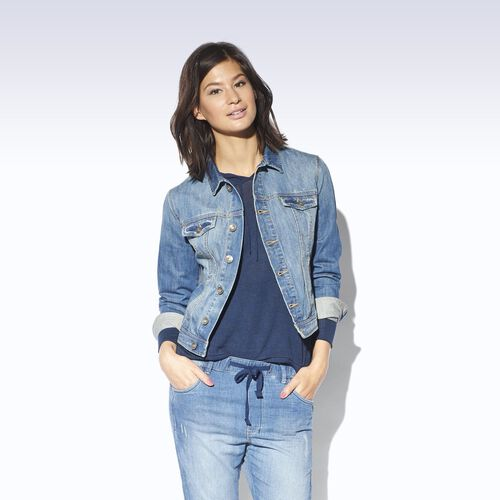 adidas - Femmes Denim Trucker Jacket Summer Blue Dnm S25047