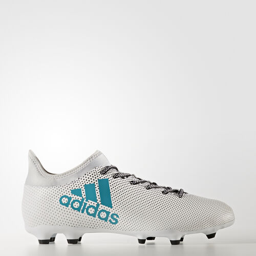 adidas - X 17.3 Firm Ground Cleats Running White Ftw  /  Energy Blue  /  Clear Grey S82362