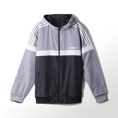 adidas - CAMPERA ORIGINALS ITASCA REVERSIBLE ROMPEVIENTO Grey/Black AY7758