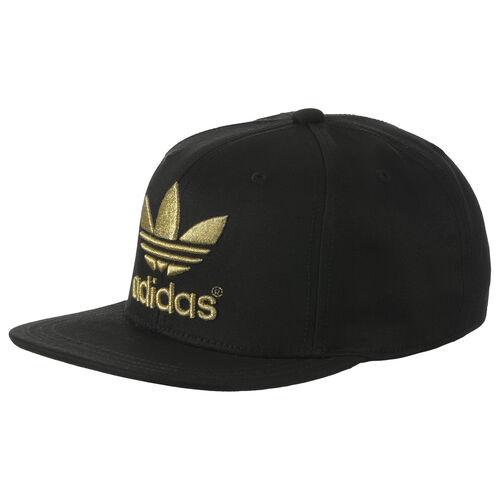 adidas - Flat Trefoil Cap Black / Matte Gold / Metallic Gold F77234