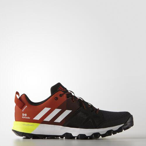 adidas - Hommes Kanadia 8 Trail Shoes Core Heather/ White/Craft Chili AQ5843