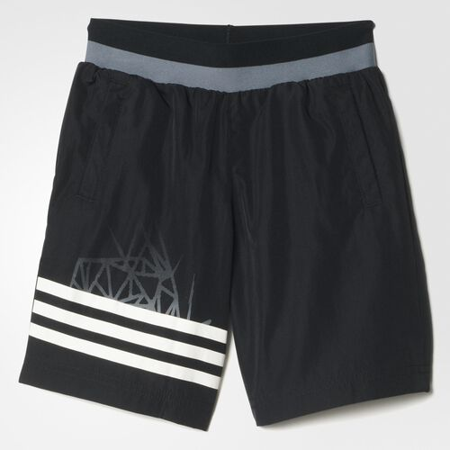 adidas - Youth Locker Room Performe Woven Shorts Black/White AA8115