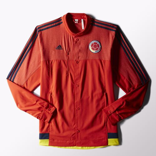 adidas - Hommes Colombia Anthem Jacket Red/Collegiate Navy/Bright Yellow M36365