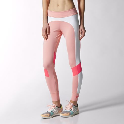adidas - Women's adidas Stellasport Tights Salmon-Smc / White / Red Zest S21192