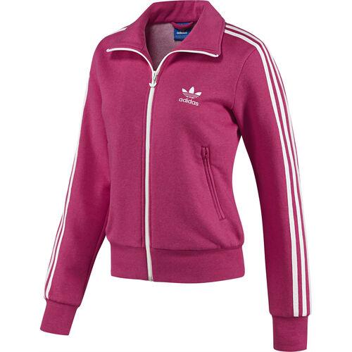 adidas - Femmes Firebird Fleece Playful Track Top Blaze Pink Melange / Running White G77418