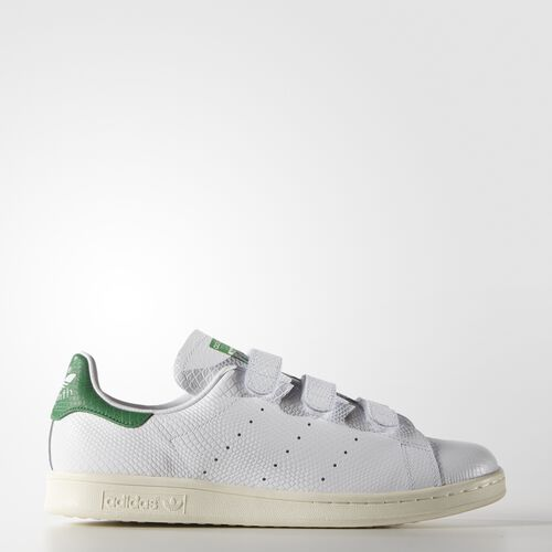 adidas - Men's Stan Smith Shoes White / Green / Cream White B24535