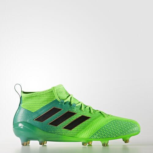 adidas - ACE 17.1 Primeknit Firm Ground Cleats Solar Green  /  Black  /  Core Green BB5961