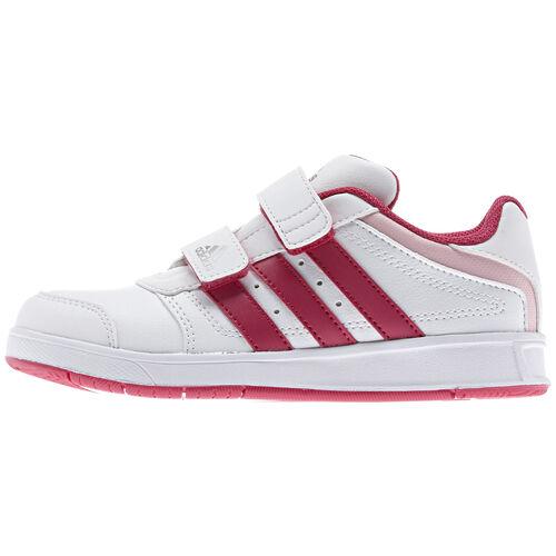 adidas - Bebes LK Trainer 5 CF Shoes Running White / Vivid Berry / Metallic Silver D67597