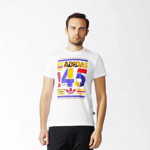 adidas - Men's adidas 45 Graphic Tee White S19077