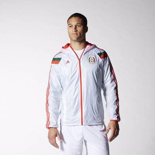 adidas - Men's Mexico Anthem Track Jacket White / Poppy / Vivid Green / Dark Green D83726