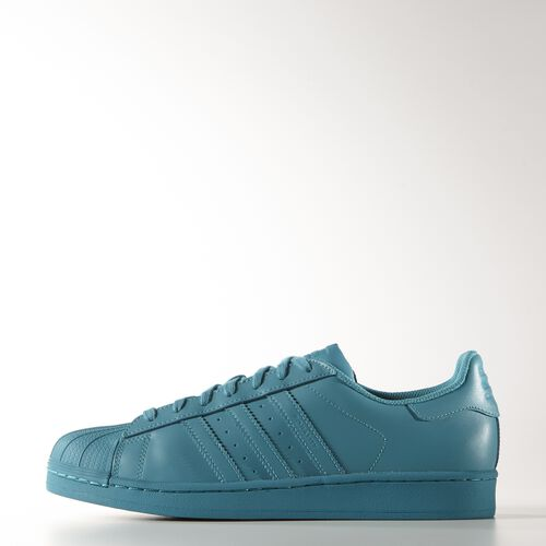 adidas - Men's Superstar Supercolor Shoes Lab Green F12/Lab Green F12/Lab Green F12 S41835