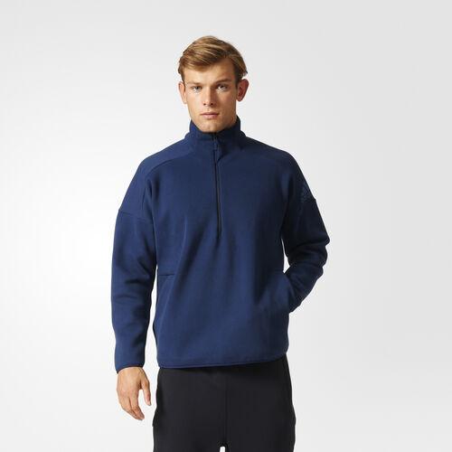 adidas - Men's adidas Z.N.E. 1/2 Zip Long Sleeve Tee Collegiate Navy S94811