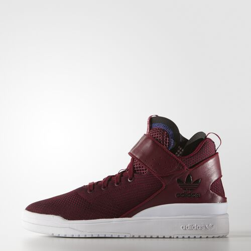 adidas - Hommes Forum Shoes Collegiate Burgundy/Collegiate Burgundy/White S77632
