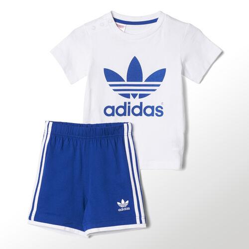 adidas - Infants Tee Short Set White / Collegiate Royal S14336