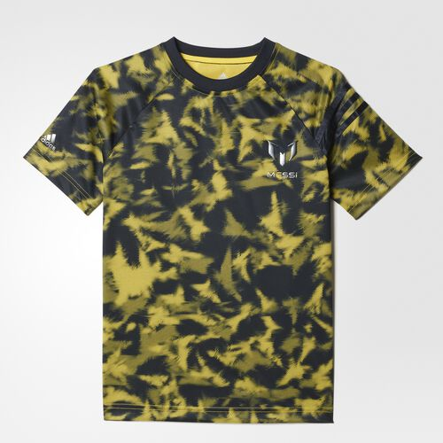 adidas - Youth Messi All-Over-Print Tee Night Grey / Bright Yellow A97389