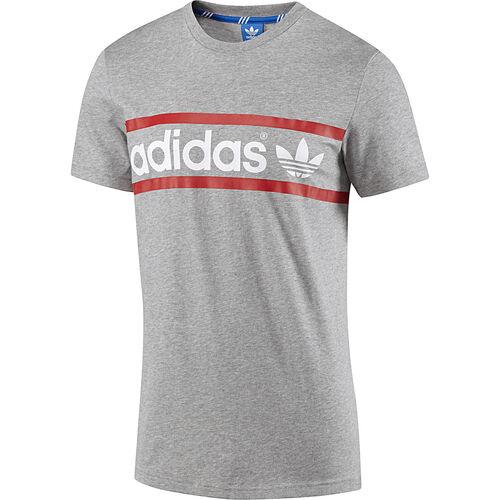 adidas - Hommes Linear Logo Tee Medium Grey Heather F78504